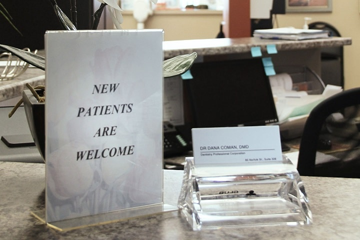 new patients welcome in dental office in Guelph